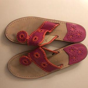 Jack Rogers Jacks Flat Sandal Pink & Orange Size 8